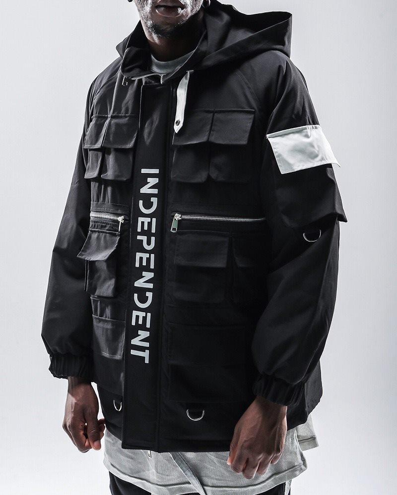 フルジップナイロンワークジャケット